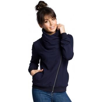 Textil Mulher Sweats Be B071 Camisola com fecho de correr - azul-marinho