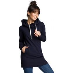 Textil Mulher Sweats Be B072 Pulôver longo - azul-marinho