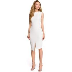Textil Mulher Vestidos curtos Style S105 Vestido sem mangas de embrulho - ecru