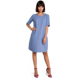 Textil Mulher Vestidos curtos Be B082 Breezy shift dress - azul