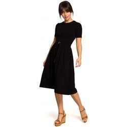 Textil Mulher Vestidos curtos Be B120 Vestido midi de ajuste e flare - ecru