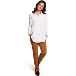 Textil Mulher camisas Be B122 Camisa de colarinho - branca