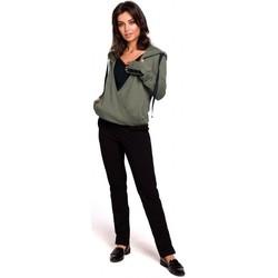 Textil Mulher Sweats Be B127 Pára-choques dianteiros com capuz - cáqui