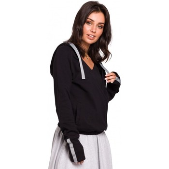Textil Mulher Sweats Be B127 Pára-choques dianteiros com capuz - preto