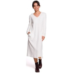 Textil Mulher Vestidos compridos Be B128 Maxi vestido com capuz - ecru