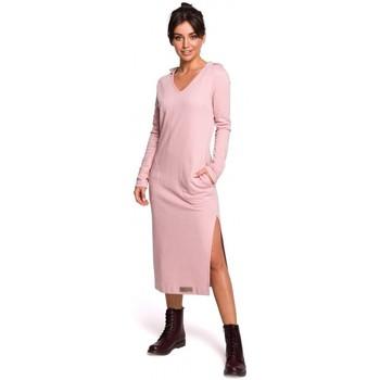 Textil Mulher Vestidos compridos Be B128 Maxi vestido com capuz - pó
