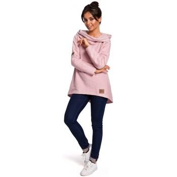 Textil Mulher Sweats Be B131 Pára-choques de colarinho alto - pó