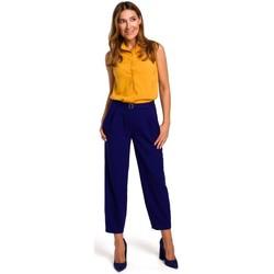 Textil Mulher Tops / Blusas Style S172 Camisa sem mangas - amarela