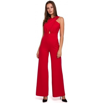 Textil Mulher Macacões/ Jardineiras Makover K029 Fato de salto dianteiro transversal - vermelho