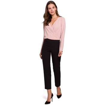 Textil Mulher Calças Makover K035 Calças com cintura elástica - preto