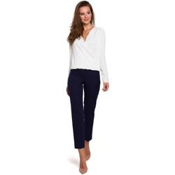 Textil Mulher Calças Makover K035 Calças com cintura elástica - azul profundo