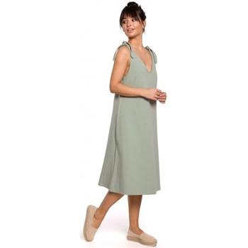 Textil Mulher Vestidos Be B148 Vestido de trapézio de cordão - pistachio
