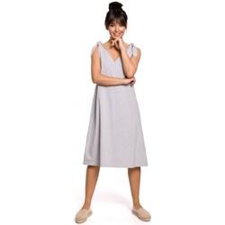 Textil Mulher Vestidos curtos Be B148 Vestido de trapézio de cordão - cinzento