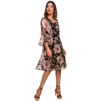 Textil Mulher Vestidos curtos Style S214 Vestido Chiffon com cintura baixa - modelo 3