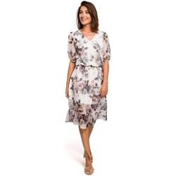Textil Mulher Vestidos Style S215 Vestido Chiffon com bainha desbotada - modelo 1