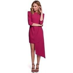 Textil Mulher Vestidos Makover K047 Vestido de bainha assimétrica - ameixa