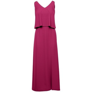 Textil Mulher Vestidos compridos Makover K048 Vestido Maxi com folho - ameixa