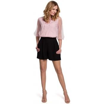 Textil Mulher Shorts / Bermudas Makover K049 Calções descontraídos - preto