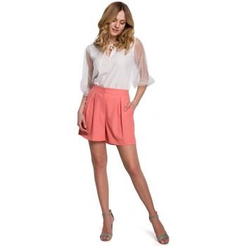 Textil Mulher Shorts / Bermudas Makover K049 Calções descontraídos - laranja