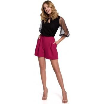 Textil Mulher Shorts / Bermudas Makover K049 Calções descontraídos - ameixa