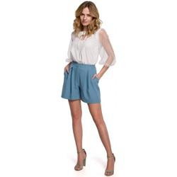 Textil Mulher Shorts / Bermudas Makover K049 Calções descontraídos - azul céu
