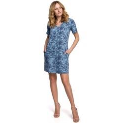Textil Mulher Vestidos curtos Makover K052 Vestido de Turno com estampado - modelo 1