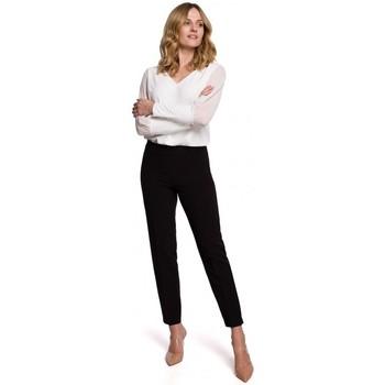 Textil Mulher Chinos Makover K055 Calças de perna fina - preto