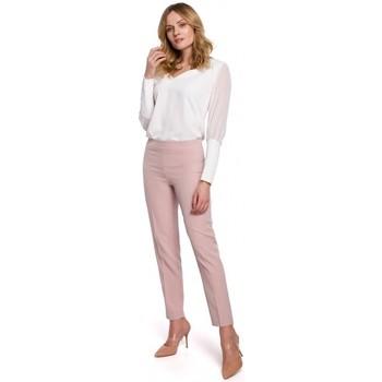 Textil Mulher Chinos Makover K055 Calças de perna fina - crepe rosa