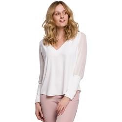 Textil Mulher Tops / Blusas Makover K066 Blusa Chiffon - ecru