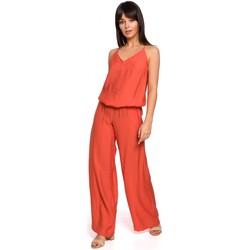 Textil Mulher Macacões/ Jardineiras Be B155 Fato de salto com perna larga - laranja