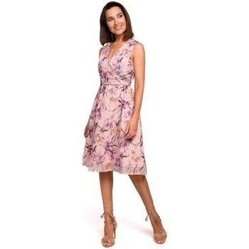 Textil Mulher Vestidos curtos Style S225 Vestido de chiffon com decote de mergulho - modelo 3