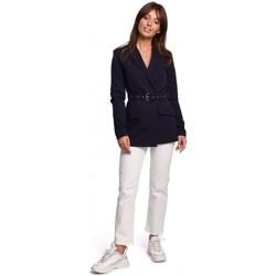 Textil Mulher Blazers Be B160 Macacão de uma peça com cinto de fivela - preto