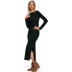 Textil Mulher Vestidos compridos Moe M544 Vestido Maxi com uma perna partida - verde