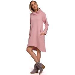 Textil Mulher Vestidos curtos Moe M551 Vestido de malha de bainha assimétrica - pó
