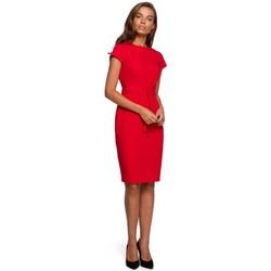 Textil Mulher Vestidos curtos Style S240 Envolver vestido frontal - preto