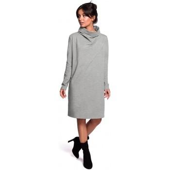 Textil Mulher Vestidos curtos Be B132 Vestido de colarinho alto - cinzento