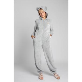 Textil Mulher Macacões/ Jardineiras Lalupa LA006 Onepiece Onesie de malha fofa - cinzento claro