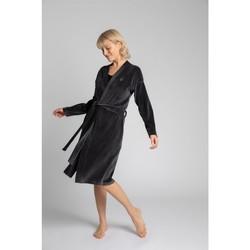 Textil Mulher Pijamas / Camisas de dormir Lalupa LA009 Velvet Robe With A Tie Belt - grafite