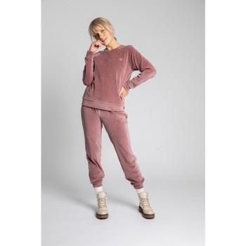 Textil Mulher camisolas Lalupa LA011 Manga de Veludo Reglan Pullover Top - crepe rosa