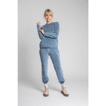 Textil Mulher Sweats Lalupa LA011 Manga de Veludo Reglan Pullover Top - azul