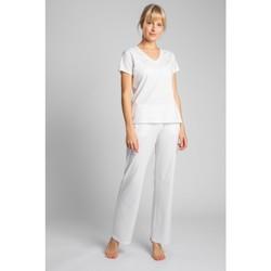 Textil Mulher T-Shirt mangas curtas Lalupa LA014 Algodão Pescoço em V - ecru