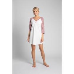 Textil Mulher Pijamas / Camisas de dormir Lalupa LA018 Camisa de dormir em algodão Colourblock - pêssego