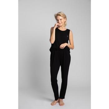 Textil Mulher Pijamas / Camisas de dormir Lalupa LA025 Fundos de viscose Pyjama - preto