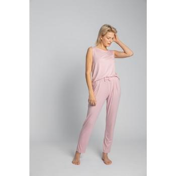Textil Mulher Pijamas / Camisas de dormir Lalupa LA025 Fundos de viscose Pyjama - rosa