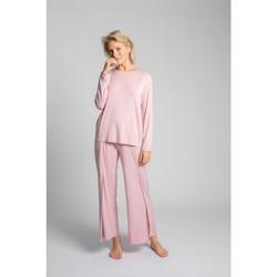 Textil Mulher Tops / Blusas Lalupa LA027 Manga comprida de viscose com costas abertas - rosa