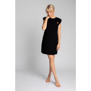 Textil Mulher Vestidos curtos Lalupa LA033 Vestido de Algodão Costurado - preto