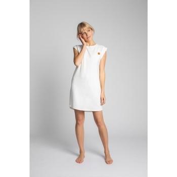 Textil Mulher Vestidos curtos Lalupa LA033 Vestido de Algodão com Costura - ecru