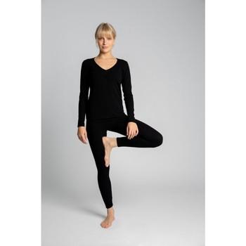 Textil Mulher Collants Lalupa LA035 Leggins de Algodão com costura - preto