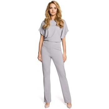 Textil Mulher Macacões/ Jardineiras Moe M319 WIde macacão de perna - cinzento