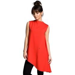 Textil Mulher Tops / Blusas Be B069 Tampo assimétrico sem mangas - vermelho
